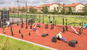 Постройка площадок для детей и спорта